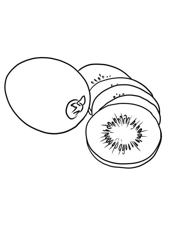 Tranh tô màu quả kiwi