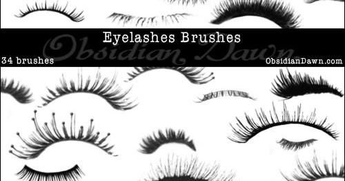 Free Eyelashes Photoshop Brushes BasicPhotoshopCS