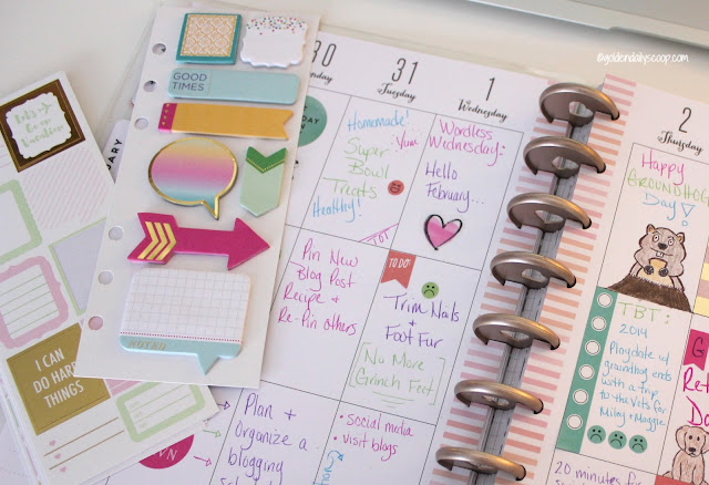 keeping your pet and blog organized and on schedule with the happy planner