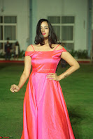 Actress Pujita Ponnada in beautiful red dress at Darshakudu music launch ~ Celebrities Galleries 018.JPG