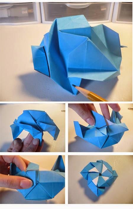 Cara Membuat Origami Bunga Mawar Biru Tutorial Kerajinan Tangan