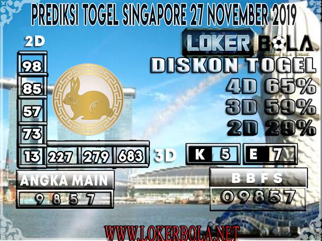 PREDIKSI TOGEL SINGAPORE LOKERBOLA 27 NOVEMBER 2019
