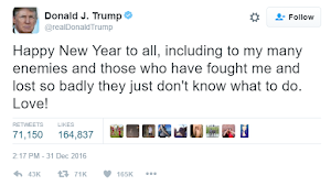 Check out how USA awaiting President Donald Trump mocked his haters in his Happy New Year message...