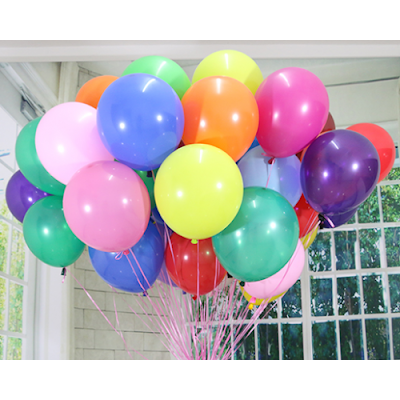 Balon Latex Doff 12 Inch Warna Warni