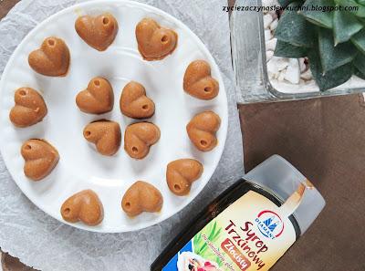 Cukierki a'la krówki na bazie masła orzechowego