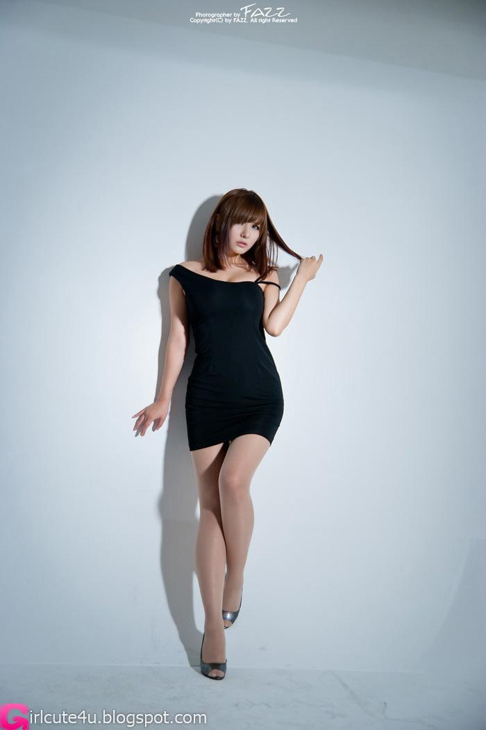 Ryu Ji Hye - Black Dress ~ Cute Girl - Asian Girl - Korean