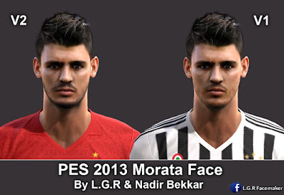 PES 2013 Morata Face By L.G.R Collab With Nadir Bekkar