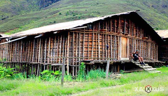 Gambar rumah adat Indonesia - Rumah adat Papua Barat atau Rumah Mod Aki Aksa