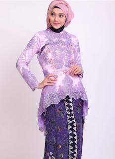 Model kebaya muslim modis untuk acara pesta dan formal