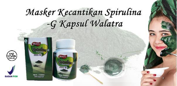 Masker Spirulina -G Kapsul Pencerah Kulit Wajah Alami