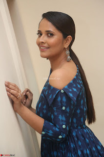 Anchor Anasuya in a Blue Gown at Jai Lava Kusa Trailer Launch ~  Exclusive Celebrities Galleries 050.JPG