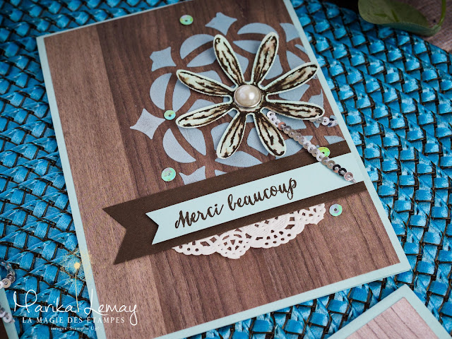 Carte Stampin'Up! faite avec le jeu d'étampes Adorable marguerite