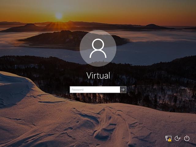 Windows 10, Immagine di sfondo nella schermata di logon