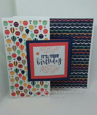 Paperjay Crafts, Up and Away DSP, Balloon Adventures, Stampin Up