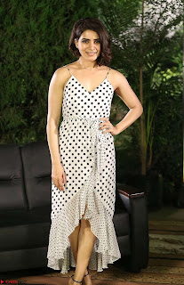 Samantha Ruth Prabhu looks super cute in a deep neck sleeveless short dress ~ Exclusive 013