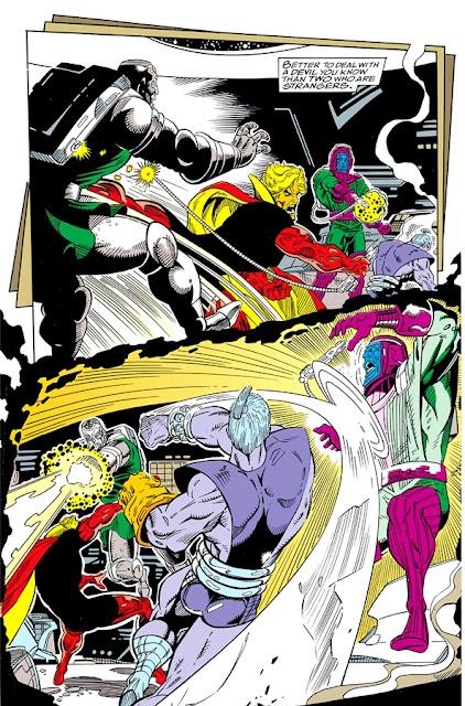 El Doctor Muerte y Kang vs Warlock y Magus