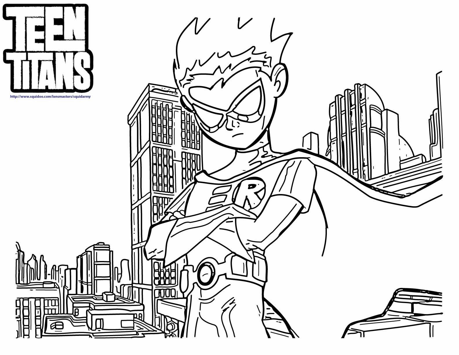 Desenhos : Desenhos Dos Jovens Titans Para Colorir E Imprimir