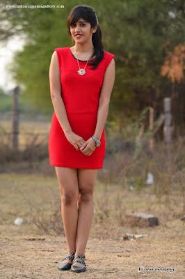 Chandini Choudary ponytail hairstyle