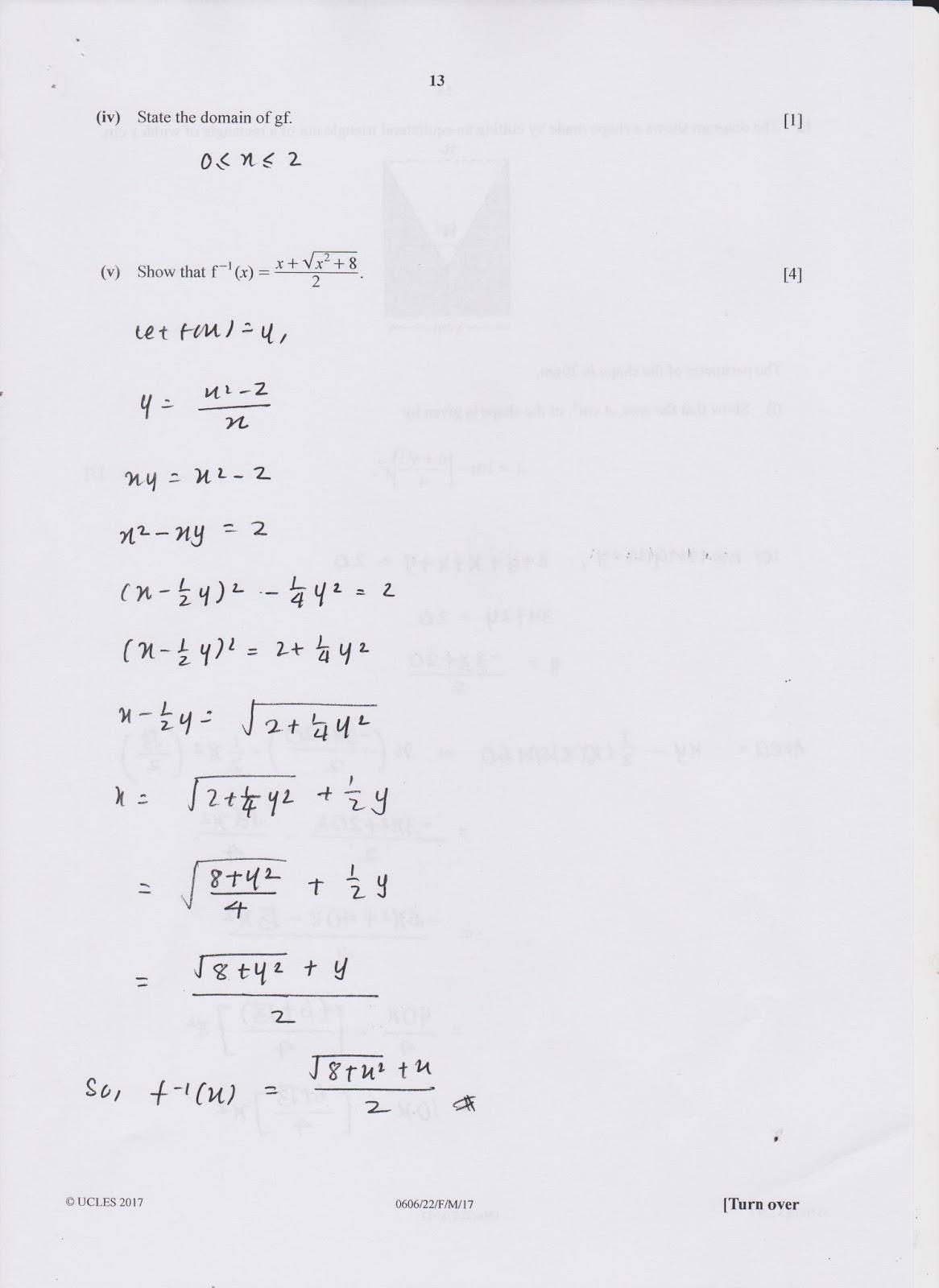 Add Maths Past Papers : CXC CSEC Maths Past Paper 2
