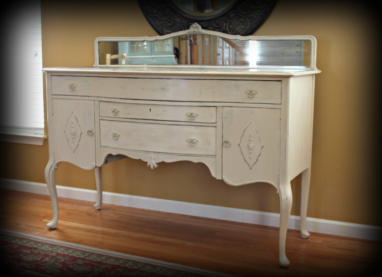 Antique buffet painted in Old Ochre