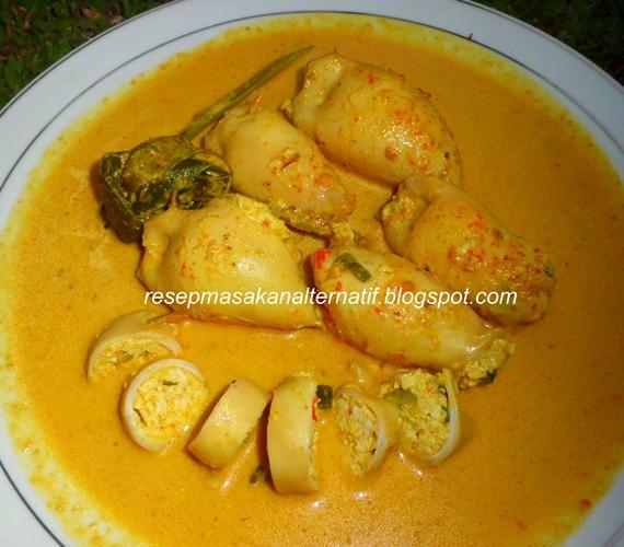 resep gulai cumi isi tahu telur pedas resep masakan indonesia praktis Resepi Ikan Selar Kuning Masak Serai Enak dan Mudah