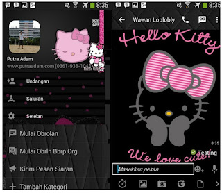 BBM Black Hello Kitty v2.12.0.11 Apk