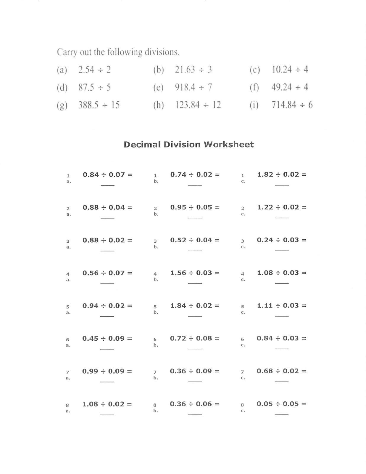 Mrs White S 6th Grade Math Blog Review Dividing Decimals