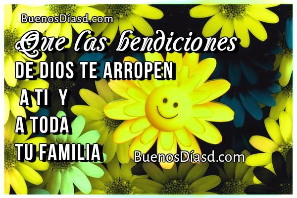 Frases de Buen Día. Bendiciones para la Familia | Buenos