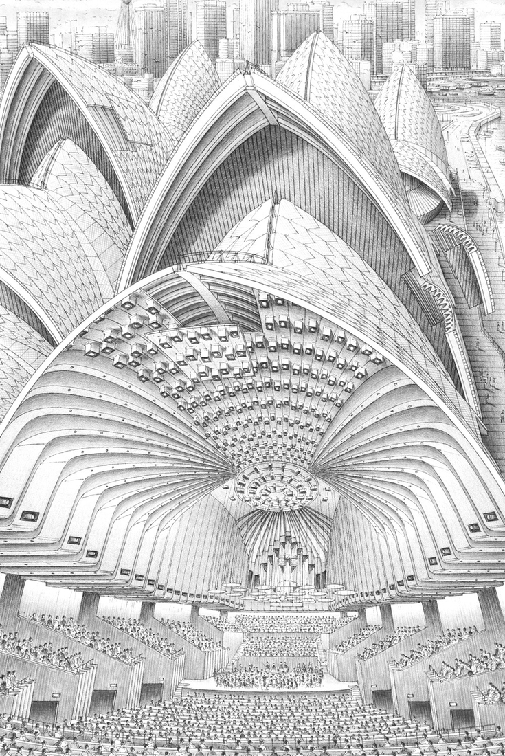 04-Sydney-Opera-House-Stephen-Biesty-Historical-Architectural-Buildings-Inside-out-Drawings-www-designstack-co