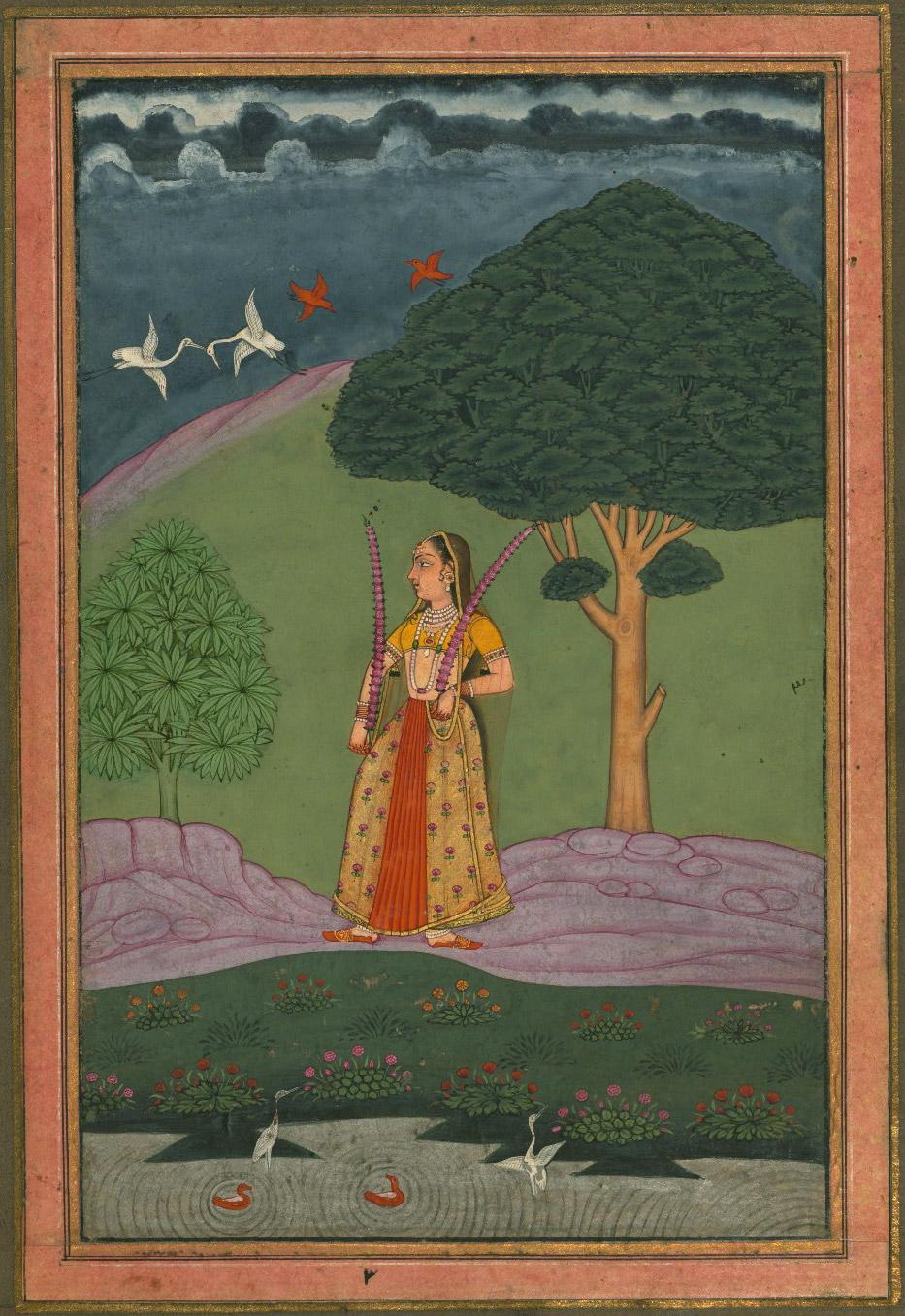 Gauri Ragini - Miniature Painting, Deccan School, Ragamala Series, 19th Century