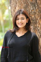 Actress Hebah Patel Stills in Black Mini Dress at Angel Movie Teaser Launch  0101.JPG
