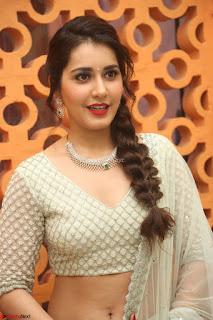 Raashi Khanan looks stunning in Crop Top Deep neck Choli Ghagra Transparent Chunni WOW ~  Exclusive Celebrities Galleries 083.JPG