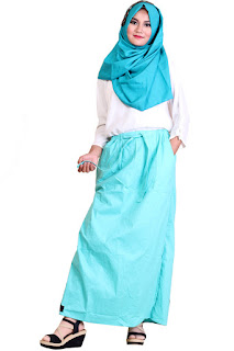 Gambar Rok Celana Akhwat Fresh Tosca