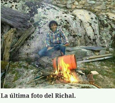 La última foto del Richal, butano, fuego