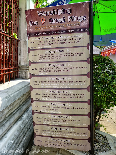 Wat Arun - worshiping Thai kings?
