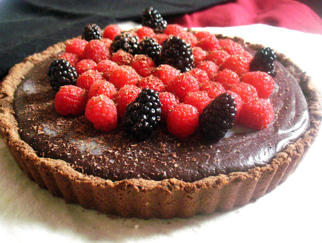Vegan Dark Chocolate Truffle Tart
