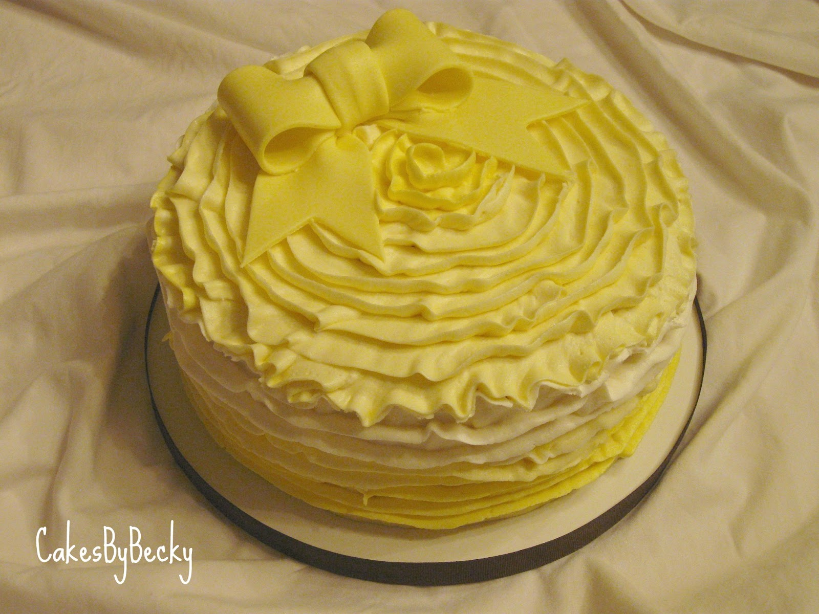 Cakes By Becky Yellow Ombre Buttercream Ruffles