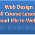 How to upload file in web site E1 - Web Design L-4 - Technical NJ