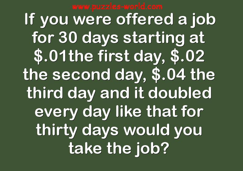 Would you take the Job?