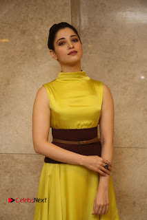 Actress Tamanna Stills in Yellow Dress at Okkadochadu Audio Launch  0071