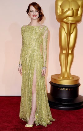 Emma Stone in Elie Saab at Oscars 2015