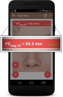 Multiple PD measurements in pupil distance meter