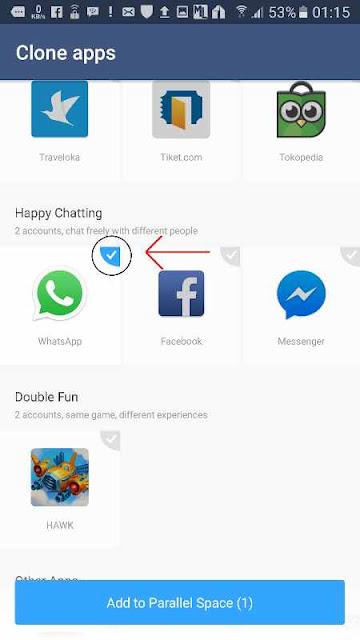 cara install 2 Whatsapp dalam 1 hape tanpa root steep 1