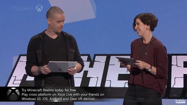 Sax Persson Lydia Winters Minecraft Microsoft E3 2016 demo co-op