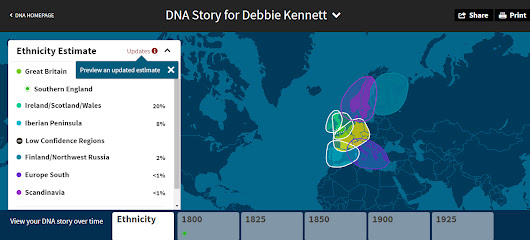 "Updated ""ethnicity"" estimates at AncestryDNA"