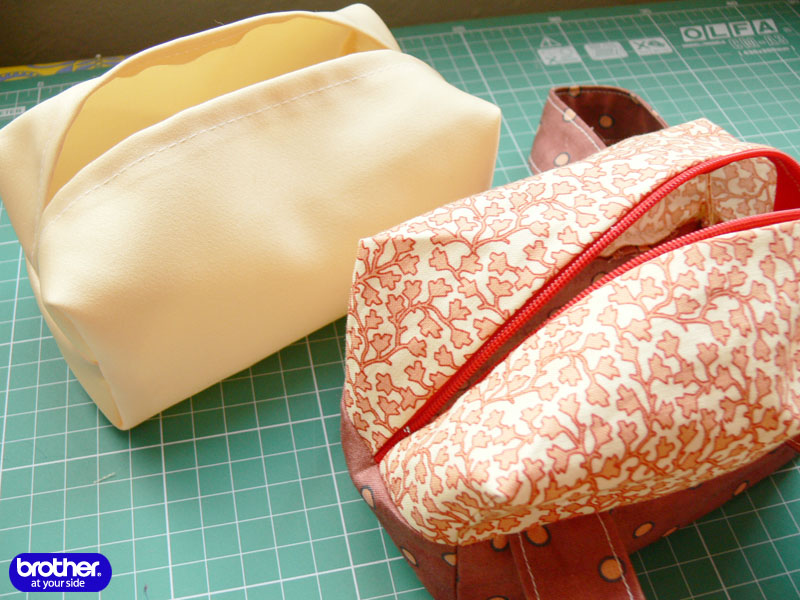 Cosmetic bag sewing pattern, makeup bag pattern. DIY Tutorial