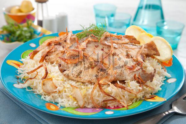طريقة عمل سمك بالأرز المحمر