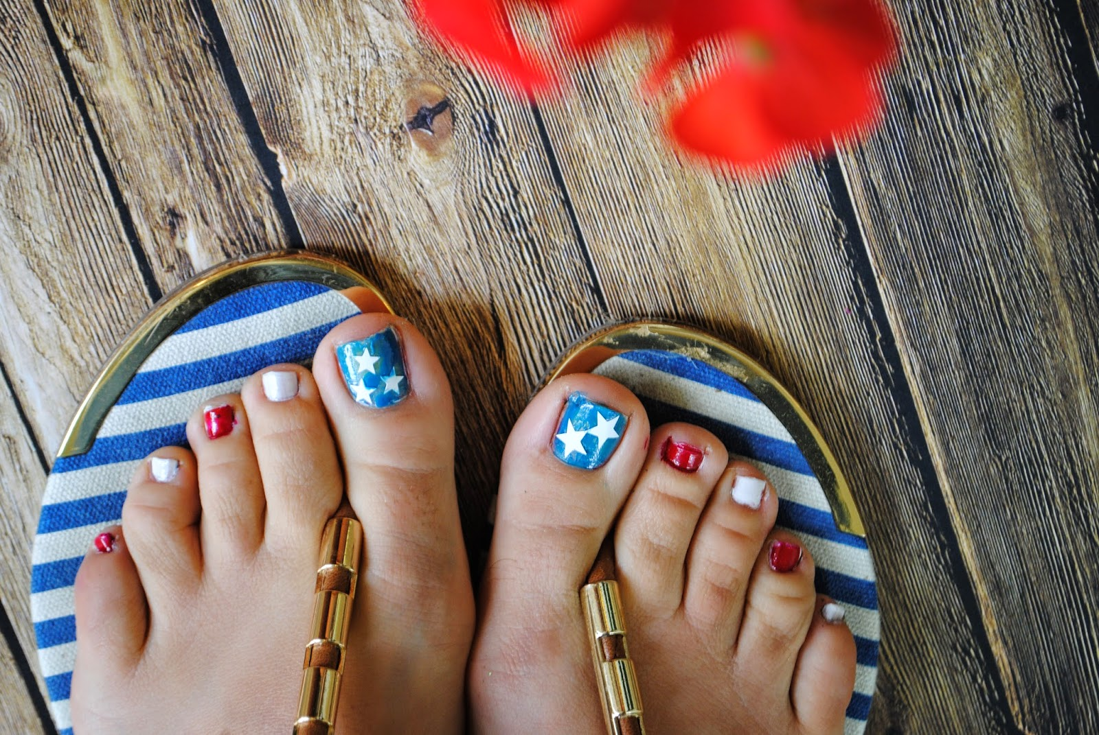 patriotic july 4 toenails nail art red white blue silhouette cameo vinyl decals
