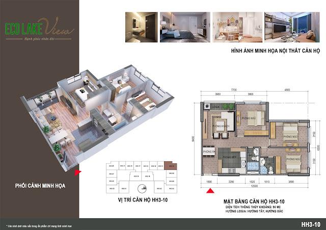 Thiết kế căn hộ số 10 tòa HH03
