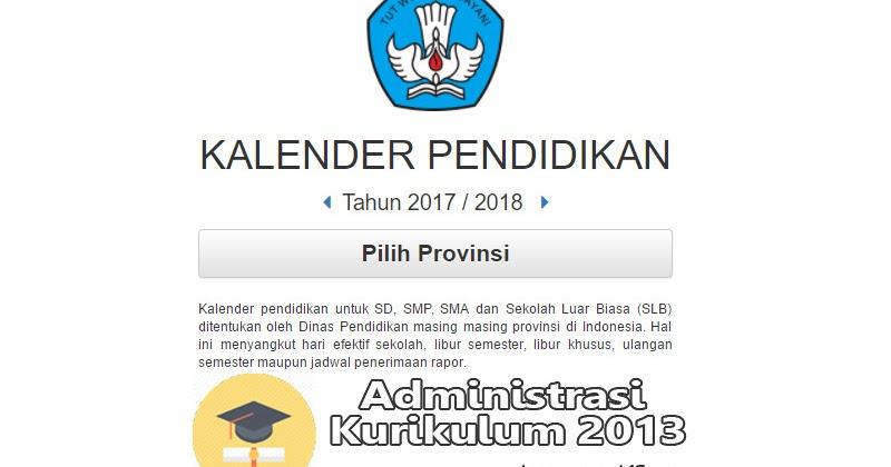 Download Kalender Pendidikan 2017 2018 Untuk Sd Smp Sma